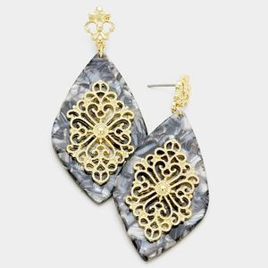 Jewelry - Fashion Celluloid Hanging Earrings